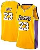 Lebron James- Lakers # 23 Jersey, Ropa Deportiva, Camiseta Sin Mangas Unisex Camiseta De Baloncesto (Amarillo, S)