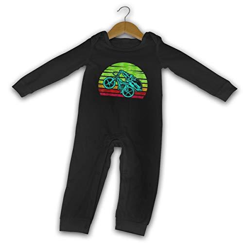WoodWorths Eat Sleep Bmx Repeat - Pagliaccetto a maniche lunghe per neonato, 6 mesi, colore: nero