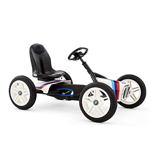 Kart Nero Kart A Pedali A Quattro Ruote per Ragazzi Corsa in Bicicletta Regolazione A Tre Marce del Sedile Corsa Macchinina (Color : Black, Size : 115