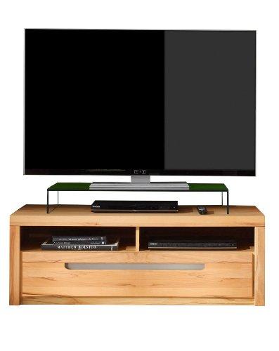 trendteam ZO31665 TV Möbel Lowboard, BxHxT 123 x 43 x 50 cm, Korpus Kernbuche Nachbildung und Fronten in Kernbuche massiv