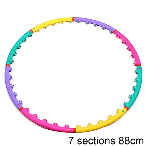 Great Price! HUI JIN Magnetic Hula Hoop/Fitness Ring Removable Hula Hoop with Double Rows of Magneti...
