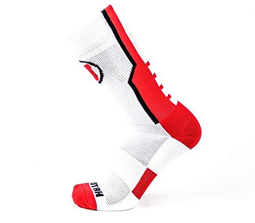 Donegal Bay NCAA Utah Utes Unisex Utah White Sport Sockutah White Sport Sock, Red, One Size