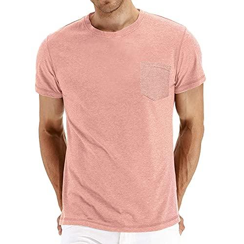 CFWL Herren Sommer T-Shirt Einfarbig...