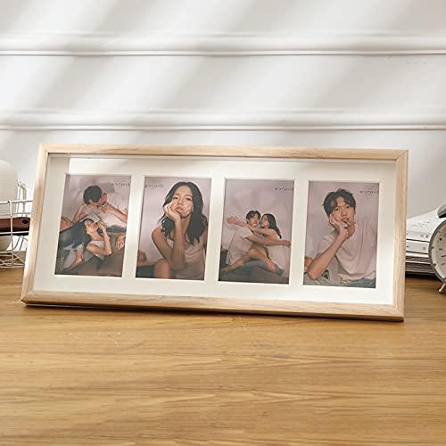 HUIJ Marco de Collage de Fotos de múltiples Aberturas de Tablero de Densidad,Marco de Fotos de combinación Creativa,Adecuado para pasillos,dormitorios,Regalos