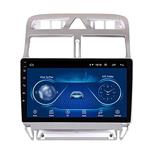 JIBO para Radio Peugeot 307 2004-2013 Auto Cabeza Unidad Android 8.1 Patio Centro GPS Navegación 10,1' Tocar Pantalla BT 4.0 Teléfono Control Estéreo Multimedia Jugador Video Receptor,1G+16G