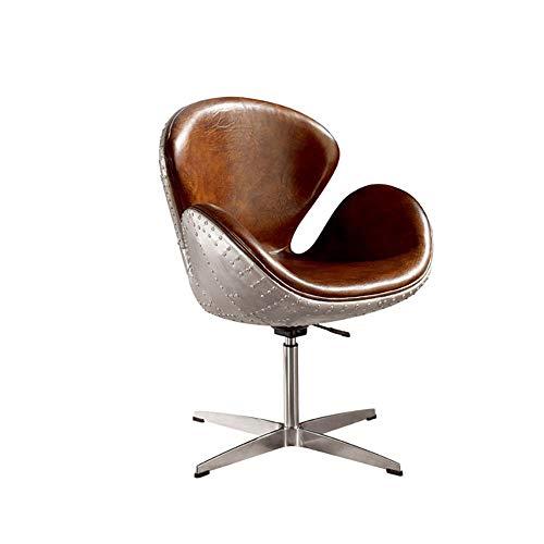Eisen Vintage Aluminium Skin Nordic Swan Chair Modernen Minimalistischen Single Theme Restaurant Wohnzimmer Metall Lounge Chair