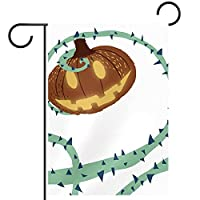 庭の旗芝生の装飾庭の装飾屋外の農家の装飾ホオジロ旗ハロウィーンの携帯電話 両面バナー