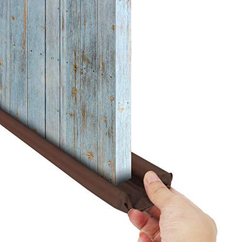 FAMKIT Paraspifferi per porte, Paraspifferi per porte Protezione su entrambi i lati, Parabrezza per finestre, Protezione per finestre regolabile Può essere tagliata a misura A prova di polvere