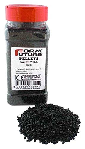 Formfutura pelepla-blck-0400b 3D Printer pellet, Easyfil PLA, nero (confezione da 3)