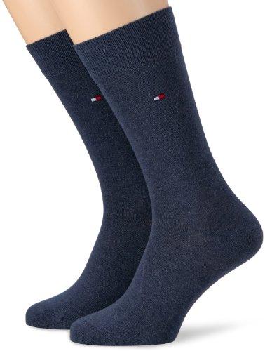 Tommy Hilfiger Herren Socken Th Men Classic 2er Pack, BLICKDICHT, Blau (Jeans), Gr. 39/42