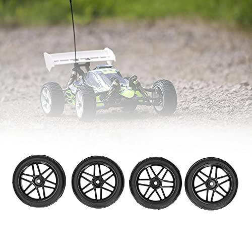 KUIDAMOS Rueda del Coche de RC, Agarre excelente Pegado Antideslizante de los neumáticos de RC para el Coche de HSP 94122/94123 / TT01 / WF06 1/10 RC(Black)