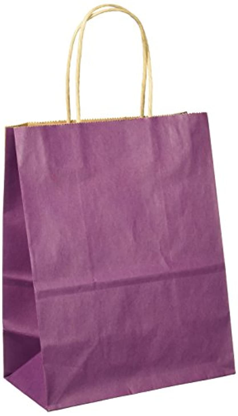 Cindus Kraft Cub Tote Gift Bag, Purple