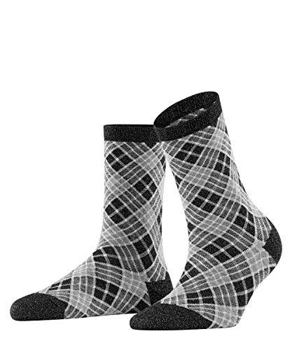 BURLINGTON Damen Socken Ladywell Rhomb - Baumwollmischung, 1 Paar, Schwarz (Black 3001), Größe: 36-41