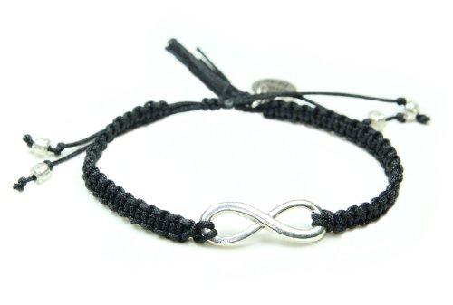 Smilla Brav Infinity Eternity Damen-Armband Unendlichkeits-Schmuck - schwarz/silber - Karma-Armband NS02