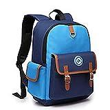 男性女性ティーンのバックパック| 小学校の学生のバックパックの女の子のスクールバッグ通学ボーイズショルダーパック実用的な多機能バックパックラブリー、ブルー、小
