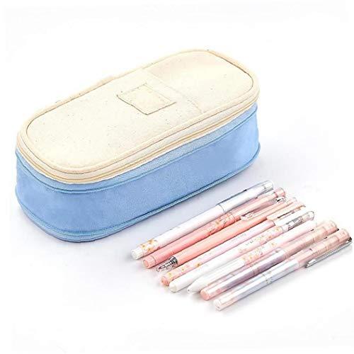 1 Pc-bleistift-kasten-große Kapazität Bleistift-beutel-kasten Büro College School Große Aufbewahrung High-beutel-beutel-halter-kasten-organisator (light Blue) Bürobedarf