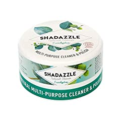 NATURAL ALL PURPOSE CLEANER : Shadazzle is a multi purpose cleaner that works on any washable surface. It is made with natural ingredients only : clay, soap, vegetal oil, vegetal glycerin, eucalyptus fragrance. No harmful chemicals or phosphates ! WH...