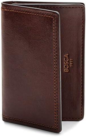 Bosca Men s 2 Pocket Card Case Wallet w I D Window in Dolce Italian Leather product image