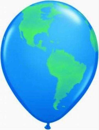 Luftballons Globus, Qualatex, 40 cm Durchmesser, 5 Stück