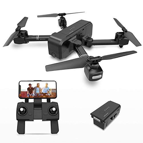 MEETGG Drohne Faltbare GPS, Drohne 5G 1080P 120° FPV WiFi Kamera HD live ü bertragung - Return Home - Follow Me,Quick Shot RC Helikopter Anfä nger