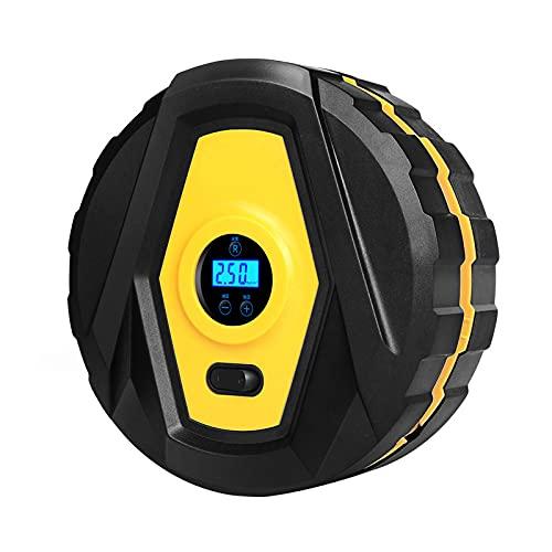 Siuber Bomba de Aire del neumático del neumático del compresor de Aire portátil con los adaptadores de la válvula del medidor LED de la luz para los automóviles Bike Motorbike Baloncesto Inflables