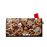 GAJAJAYZXN Cinnamon Christmas Crackers with Nuts Mailbox Covers Post Letter Box Cover Standard Oversize 21 X 18 Makover Mailwrap Garden Home Decor