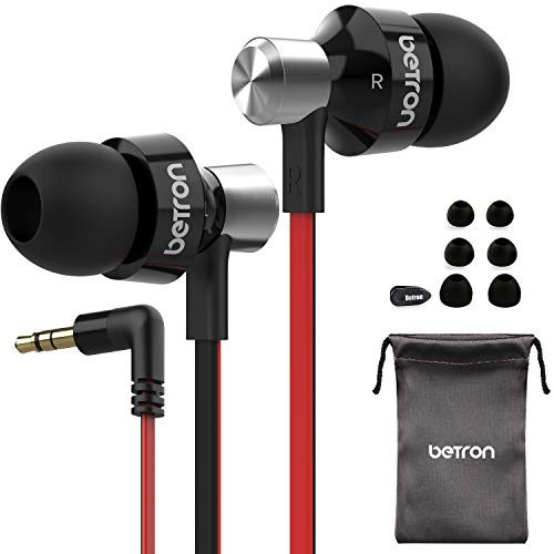 Betron DC950 Earphone, Noise Isolating, Powerful Bass, Replaceable Earbuds,...