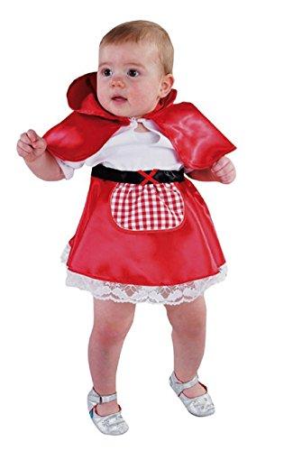 M213011-92 - Disfraz de Caperucita Roja para beb (talla 92), color rojo y blanco