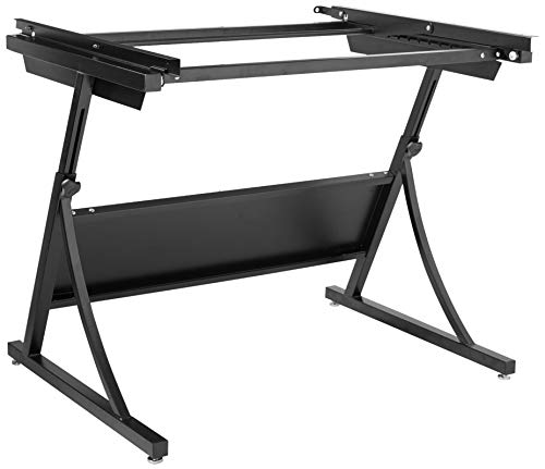 Safco Products 3957 PlanMaster Height-Adjustable Drafting Table for use with 3948, 3951 Table Top (sold separately), Black