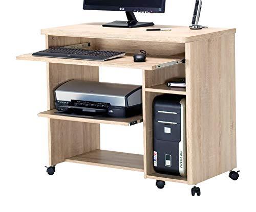 Jahnke CU-LIBRE 90 EI SÄGERAU Computer-Tisch, E1-Holzwerkstoffplatten, beschichtet, 88,5 x 48 x 77 cm
