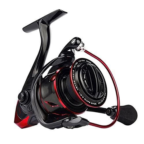 PSFYYY Reel de Hilado Impermeable Reel de Pesca 2500 Tipo Tipo Fuselaje de Carbono El Carrete de Pesca es Adecuado para la Pesca (Spool Capacity : 4000)