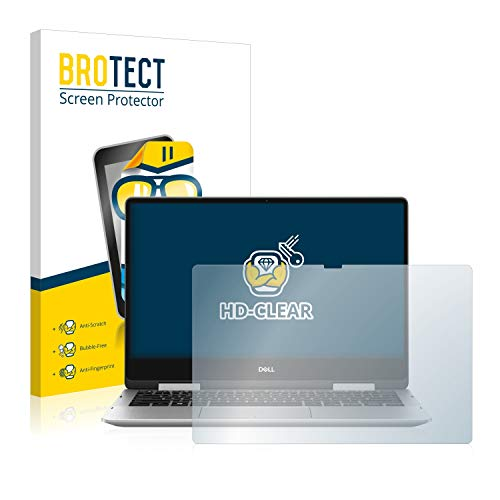 BROTECT Schutzfolie kompatibel mit Dell Inspiron 13 7000 2-in-1 klare Bildschirmschutz-Folie