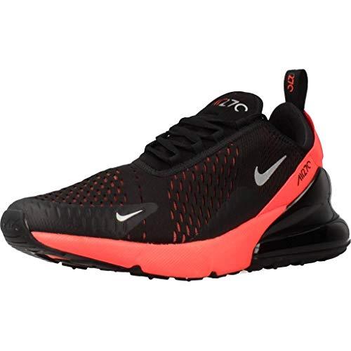 Nike Herren Men's Air Max 270 Shoe Leichtathletikschuhe, Mehrfarbig (Black/Metallic Silver/Bright Crimson 026), 44.5 EU
