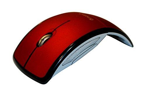 Klein Design TM-9200 optische Klappbare Maus/Mouse schnurlos/Wireless rot