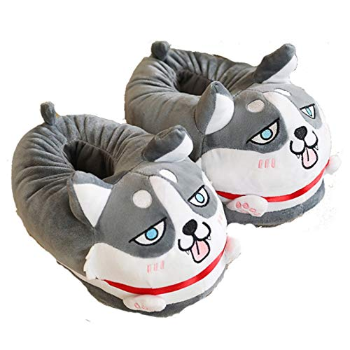 CNMJI Pantuflas Felpa Zapatillas Mujer De Estar por Casa Cálidas Y Cómodas con Suela Antideslizante para Exterior E Interior Suave Invierno para Dormitorio Hombre Slippers,36~44