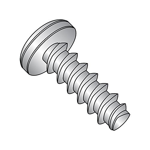 410 Stainless Steel Thread Rolling Screw for Plastic, Passivated Finish, Pan Head, Phillips Drive, #6-19 Thread Size, 1/2