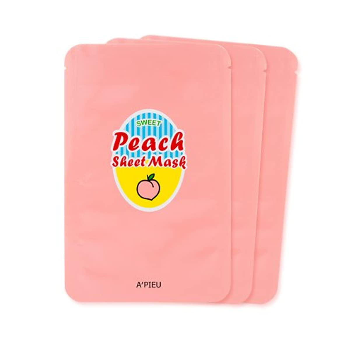 解体する残高ハントA'PIEU Sweet Peach Sheet Mask 3EA / [オピュ/アピュ] スイートピーチシートマスク3枚 [並行輸入品]