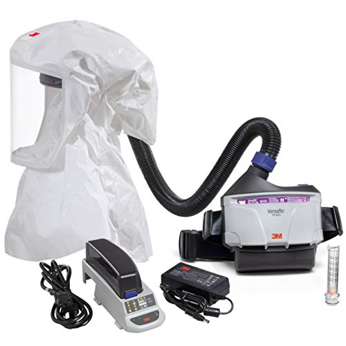 3M PAPR Respirator, Versaflo Powered Air Purifying Respirator Kit, TR-300N+ ECK, Easy Clean, Disposable Hood, Pharmaceutical, Food Safety, Painting, and Lead Battery Manufacturing Recycling