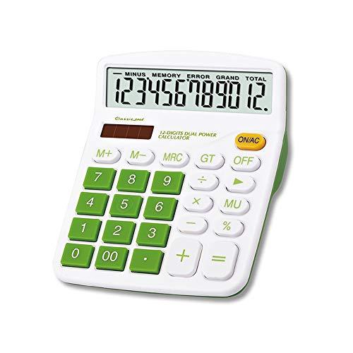 Mengshen Calculadora Sobremesa, calculadoras Grandes Batería Solar Energía Dual 12 dígitos Pantalla LCD Calculadora Básica Financiera Negocios de función estándar para Oficina/hogar/Escuela