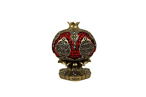 Gunes Ayat al Kursi Lujo Rojo Decorativos Adorno Color Plateado 10x 10x 13cm