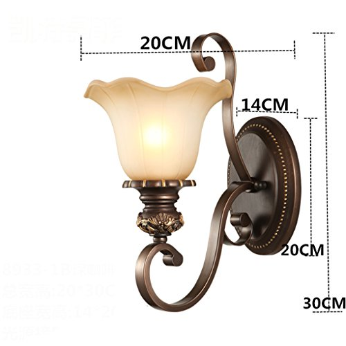 Applique murale lampe de chevet Chambre à coucher salon chinois lampe de mur rétro (couleur : B)