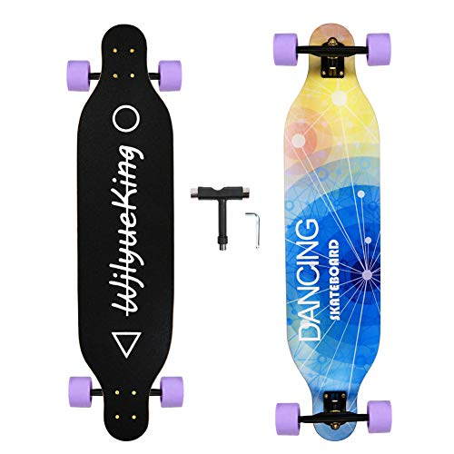 WjlyueKing  Warm Braw Long Skateboard The 41 Inch Long Skateboard for Adult Youth Beginner Girl and Boy T-Tool Included