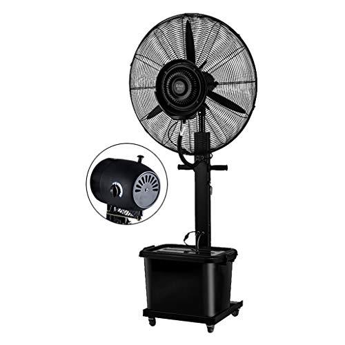 Ventilador de Pedestal - Humidificador de nebulización y rocío Hurricane Cooling Grande para Negocios de la Industria Comercial de oficinas, Control Digital de 3 velocidades (Negro)