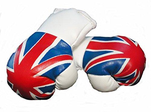 Mini Boxhandschuhe GROßBRITANNIEN / Vereinigtes Königreich / UNITED KINGDOM / UK / UNION JACK, 1 Paar (2 Stück) Miniboxhandschuhe z. B. für Auto-Innenspiegel