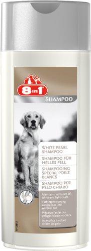 8in1 shampoo voor honden (kleurversterking van lichte en witte hondenletter), 250 ml fles