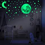 LUMOSX Glow in the Dark Stars for Ceiling - 234 pcs of Adhesive Ceiling Stars & Realistic Full Moon w/BONUS Crescent Moon for Ceiling Decor, Room Decor & Bedroom Decor | Decals for Ceiling Decorations | Kawaii Room Decor For Boys and Girls Bedroom