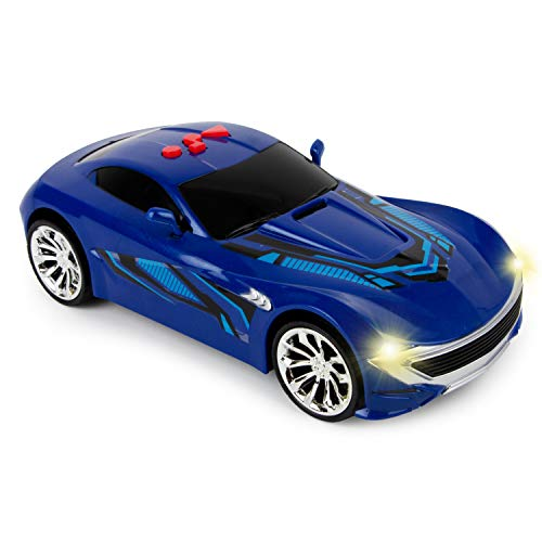 Boley Lift-Off Racer - 1 Pack Blue Race Car Toy for Boys and Girls - Kids and Toddler Racing Car Toy