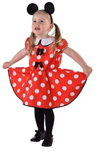 M216001-92 - Disfraz de Minnie para beb, talla 92, color rojo y blanco