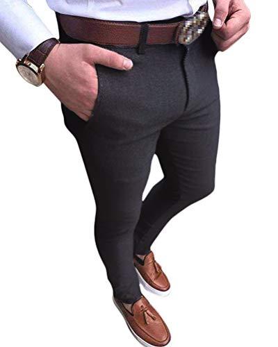 Onsoyours Pantalons de Sport Casual Jogging Été À Carreaux Slim Grande Taille avec Poches Ceinture Élastique Mode Casual Jogger Pant C Gris Large