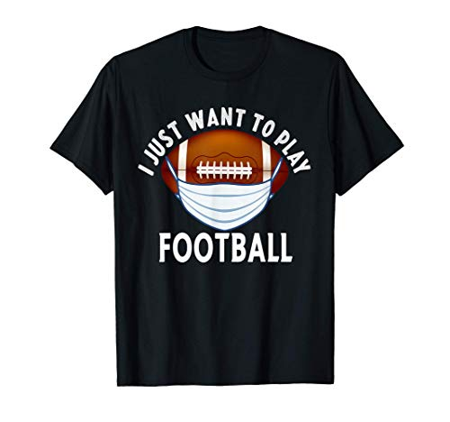 Football Face Mask Funny Football Quarantine Gift Sports T-Shirt